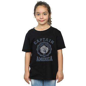 Marvel Girls Captain America Collegiate T-Shirt