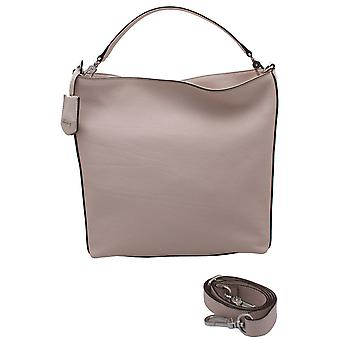 Abro Neutral Leather Shoulder Strap Handbag