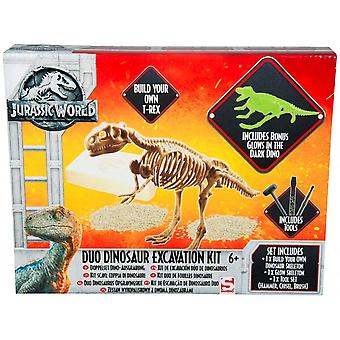 Jurassic World Duo Dinosaurier Ausgrabung Kit