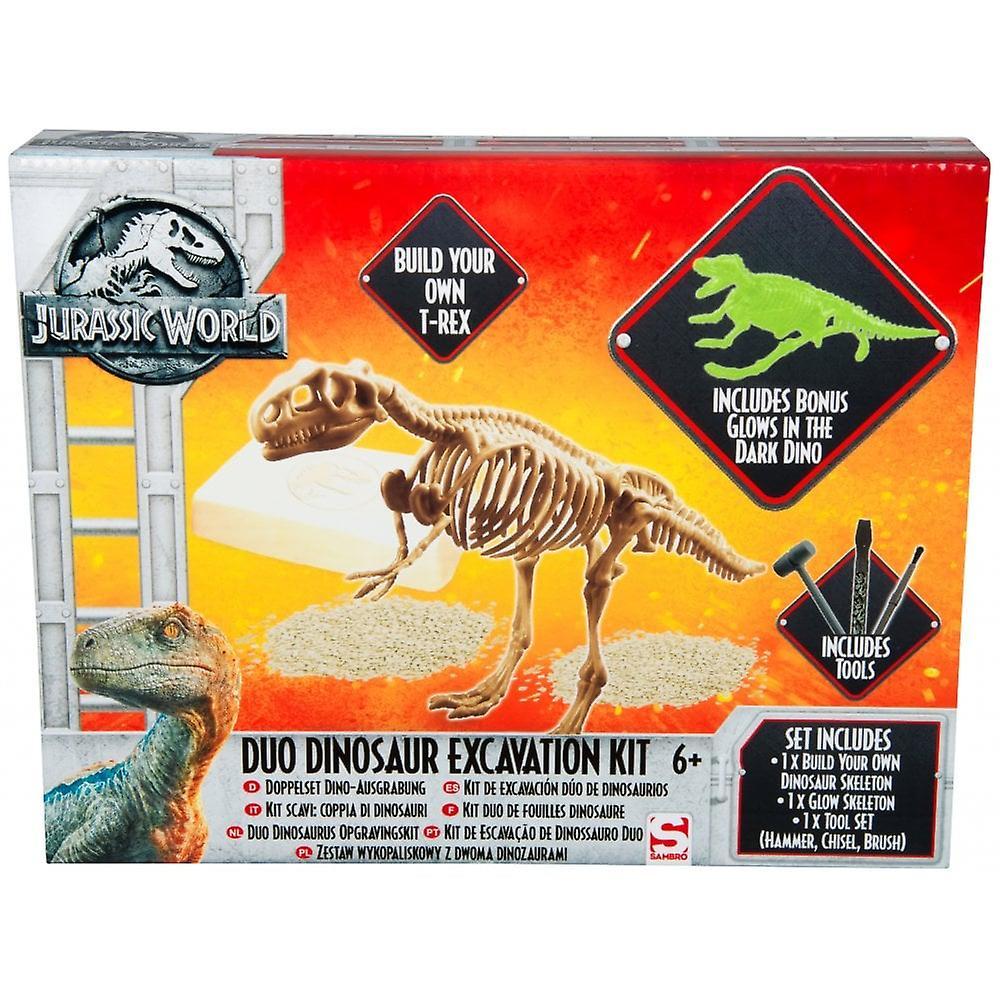 Jurassic World Duo dinosaurie utgrävning kit