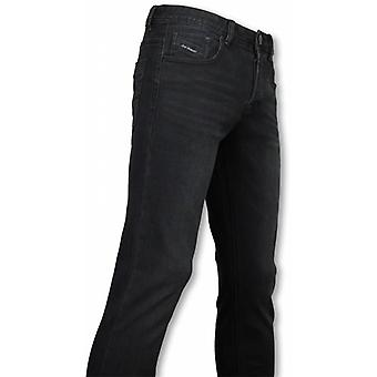 Exclusive Basic Jeans - Regular Fit Casual 5 Pocket - Zwart