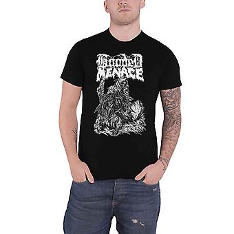Hooded Menace T Shirt Reanimated By Death Band Logo new Official Mens Black