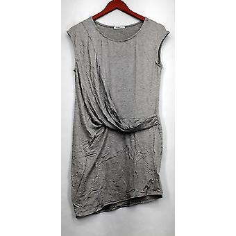 Double U Dress Scoop Neck Asymetryczne Rąpona w / Drape Detail Heather Gray