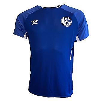 2019-2020 Schalke Umbro Training Shirt (Blue)