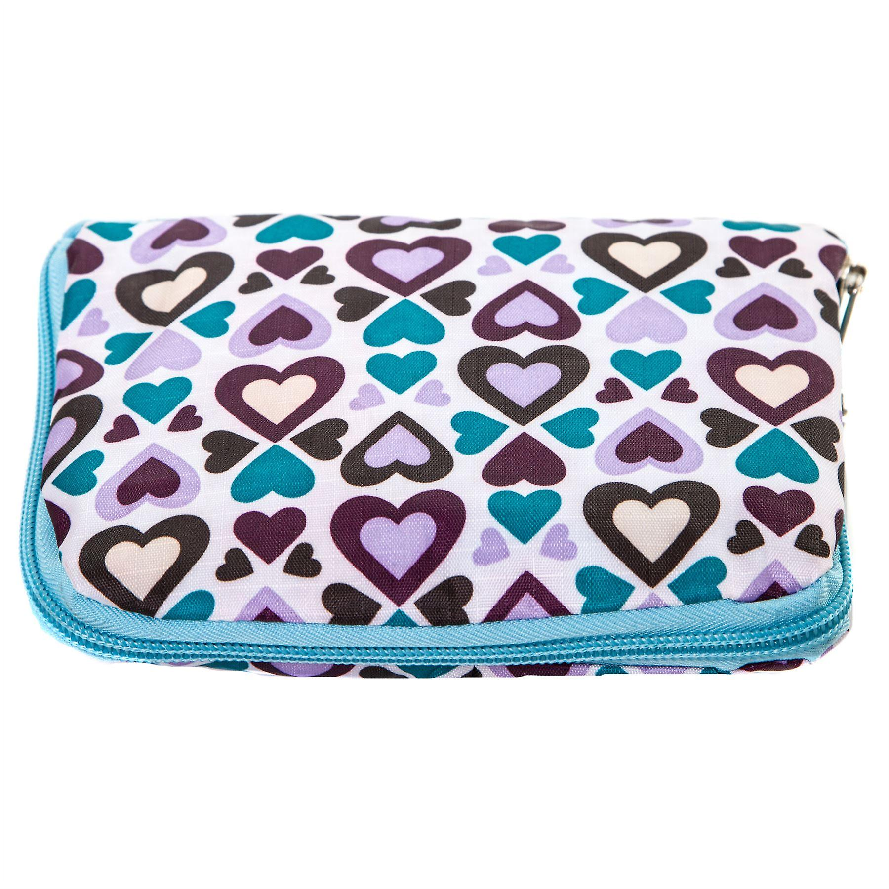 Very Lovely Bags Co. Fold Away Mini Shopper - Queen of Hearts