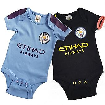 Manchester City 2 Pack Body 0/3 mths PL