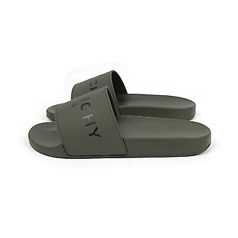 Givenchy Slide Flat Sandals Dark Khaki