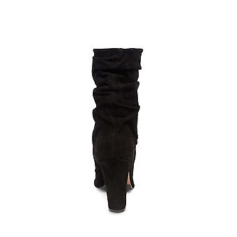 Steve Madden Womens Zarin läder spetsiga tå Mid-kalv mode stövlar