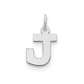 925 Sterling Silver Solid Polished Small Block Intial J Charm Pendant Necklace Jewelry Gifts for Women