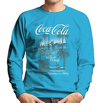 Coca Cola Surfers The Real Thing Men's Sweatshirt