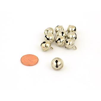 10 Silver 11mm Cat Bell Style Jingle Bells for Crafts