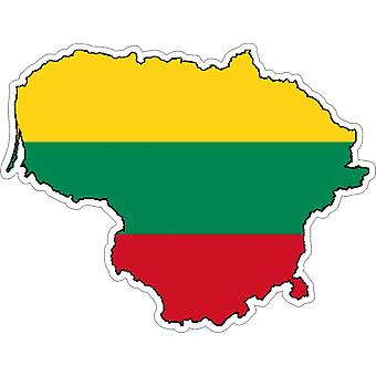 Sticker Sticker Adhesif Vinyl Car Flag Map Lithuania