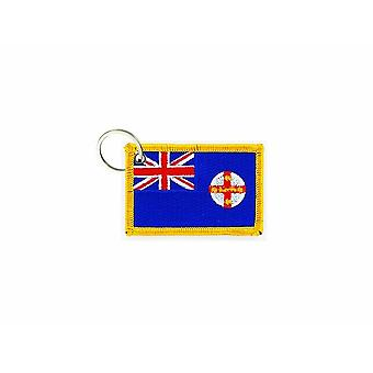 Cle Cles Key Brode Patch Ecusson Flag Australia New South Wales