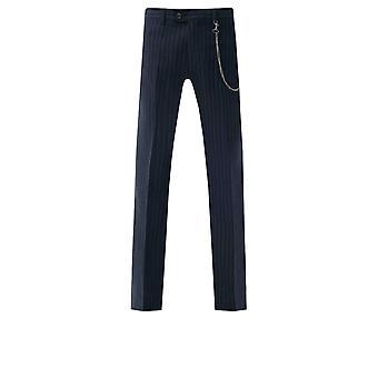 Loch Hart Hombres Pantalones de Rayas de Tiza De la Marina