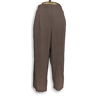 Anybody Women's Petite Lounge Pants XLP Cozy Knit Brown A347173