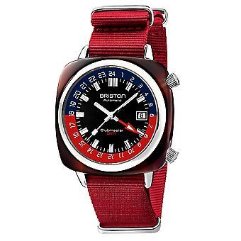 Briston 19842.SA.T.P.NR Clubmaster GMT Traveller Wristwatch