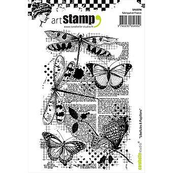 Carabelle Studio Cling Stamp A6-Dragonflies & Butterflies