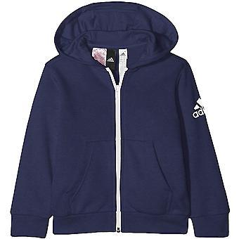 adidas Performance Boys YB Logo Long Sleeve Full Zip Hoody Jacket Hoodie Indigo