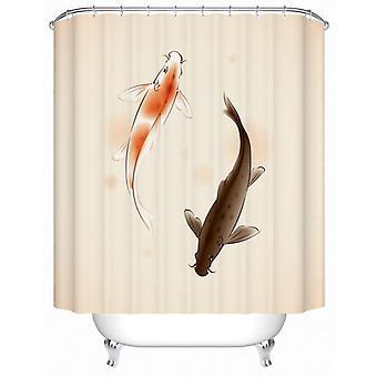 Ein Paar Karpfen Fisch Duschvorhang