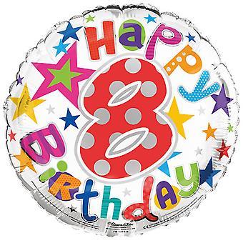 Simon Elvin 18 Inch Happy 8th Birthday Foil Balloon