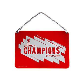 Liverpool FC Champions Of Europe 2019 Metal Sign