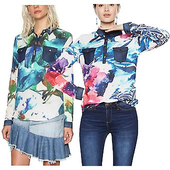 Desigual Women's Ala de Mariposa Watercolour Blouse