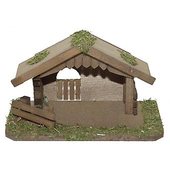 Crib wooden crib Christmas crib Christmas nativity scene Christmas decoration for very small figures