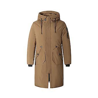 Allthemen Мензапос;S Твердая средняя длина с капюшоном вниз мягкий пиджак