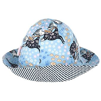 Moomin Flower Gallop hat blue
