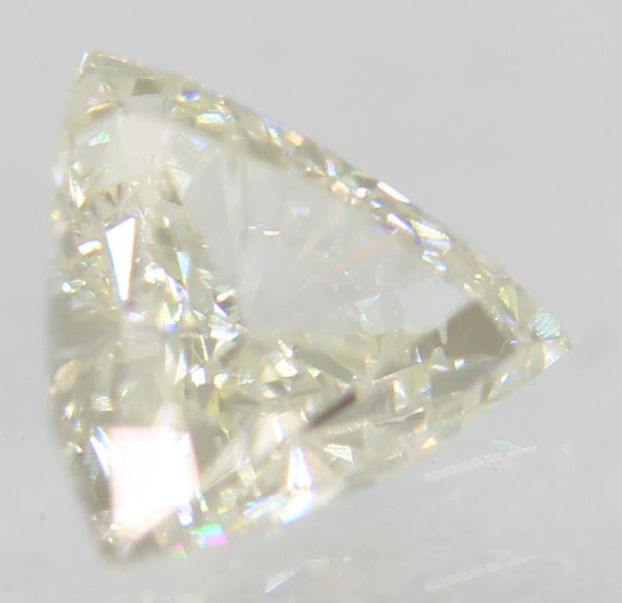 Certified 0.34 Carat G VS2 Triangle Natural Loose Diamond For Ring 5.1x4.98mm