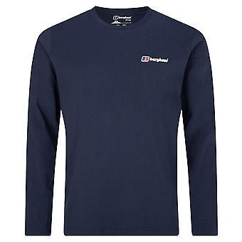 Berghaus Hombres Corporate Logo camiseta de algodón de manga larga