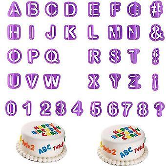 40 letters/nummer-vorm voor de cake/bakken