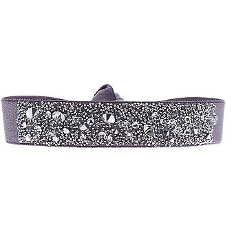 Les Interchangeables A41129 armbånd - Kvinders Høj kvalitet Crystal Violet Stof Armbånd