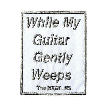 De Beatles patch terwijl mijn gitaar zachtjes Weeps nieuwe officiële geborduurd opstrijkbare