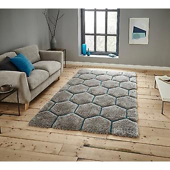Noble House 30782 30782 Grey Blue  Rectangle Rugs Funky Rugs