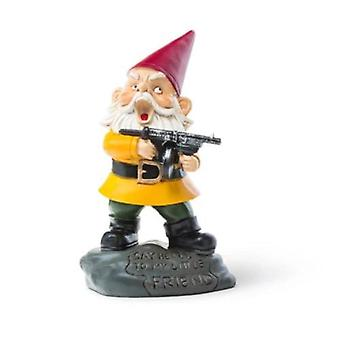 Bigmouth angry little garden gnome
