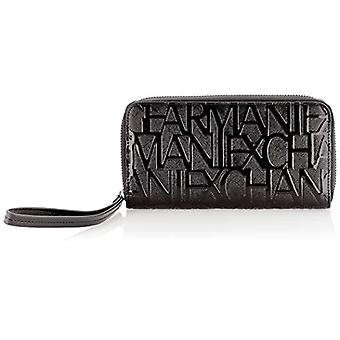Armani ExchangeWristlet Round Zip Women's Black/Black Wrist Bags (3x19x10.5 Centimeters)
