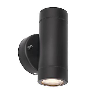 Saxby Lighting Palin Up & Down IP44 Luz de pared en negro