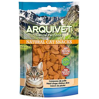 Arquivet Natural Snack for Cats Chicken Hearts (Cats , Treats , Eco Products)