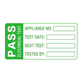 Martindale LAB2 Large PASS PAT Test Labels - Roll Of 500