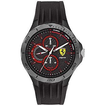 Scuderia Ferrari - France Pista Hommes-apos;s Bracelet en caoutchouc noir (fr) Black Dial 0830725 Montre