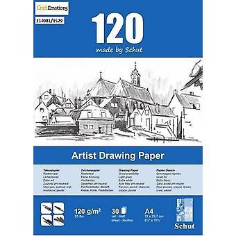 Schut Artist Drawing Paper 120 gram A4 bloc a 30 sheets