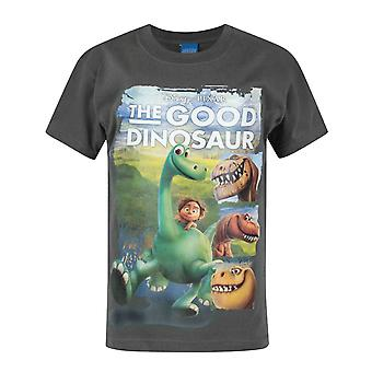 The Good Dinosaur Characters Charcoal Short Sleeve Boy's T-Shirt