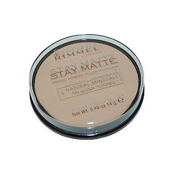 Rimmel London Stay Matte Pressed Powder 14g Silky Beige