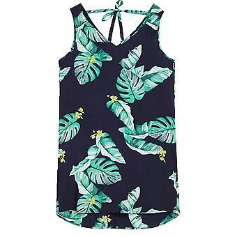 Sandwich Kleidung tropischen Druck ärmelloses Kleid