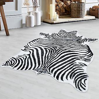 Zebra huiddeken Hoogwaardige kunstleerimitatie Wasbare Antislip Zwart Wit