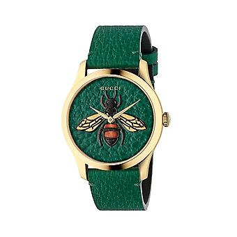 Gucci YA1264065 G-Timeless Ladies Watch - Green/Gold