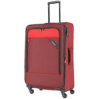 travelite Derby Trolley L, 4 hjul, 77 cm, 102 L, rød