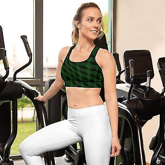 Sports Bra | Abstract in Dark Green