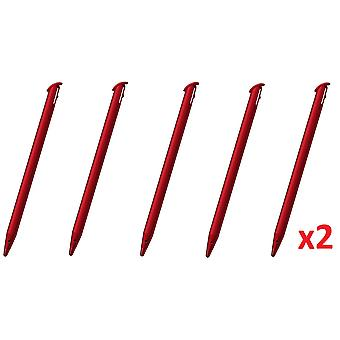 עט אלקטרוני עם מגע אדום של 10x עבור-̗̀new ̖́-נינטנדו 3DS XL